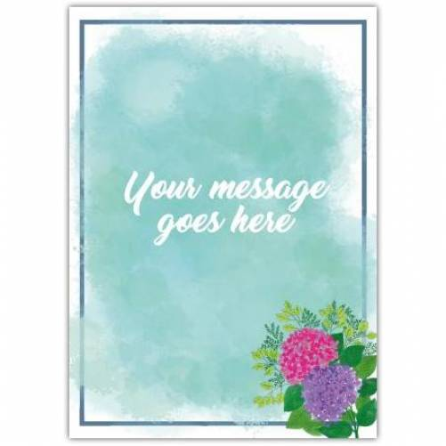 Simple Message With Flowers Card