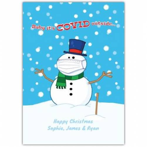 Baby It's Covid Outside Christmas Card