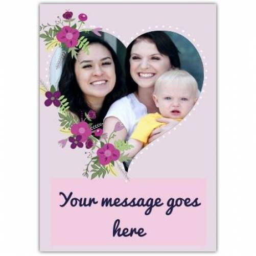 Any Message Pink Floral Greeting Card