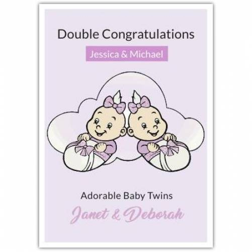 Double Congratulations Adorable  Card