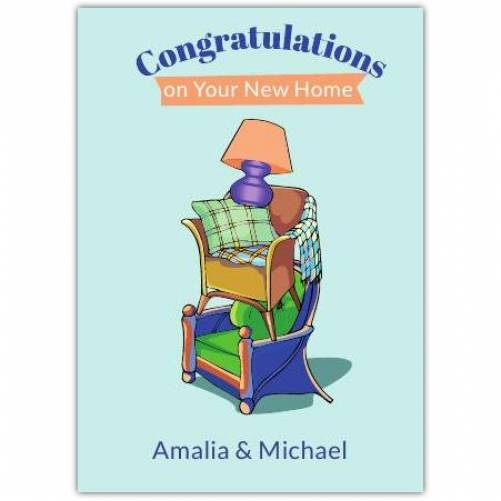 Furniture Congratulations On New Home Card