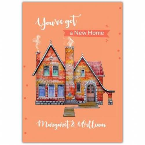 New Home Little House Chimney Smoke  Card