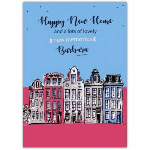 Happy New Home Buildings  Card