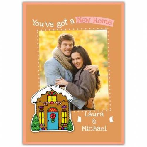 New Home Gingerbread House  Card
