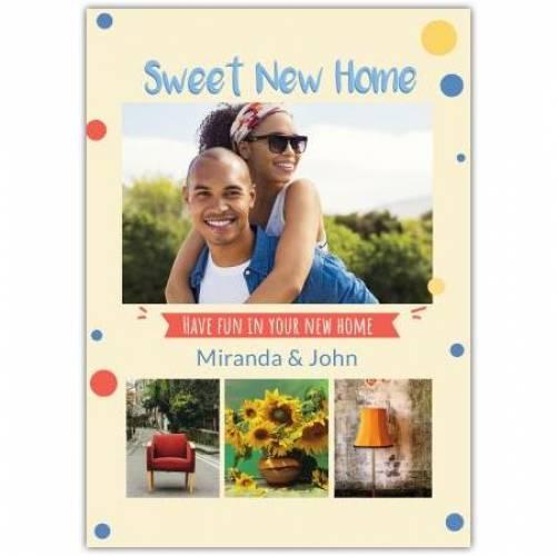 New Home 4 Photos Card