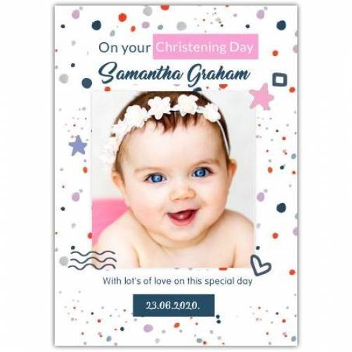 Christening Day Shapes  Card