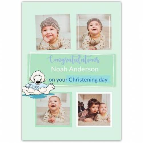 Congratulations Christening Day Polar Bear  Card