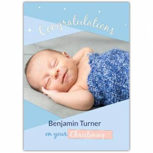 Congratulations Baby Boy Christening Day  Card