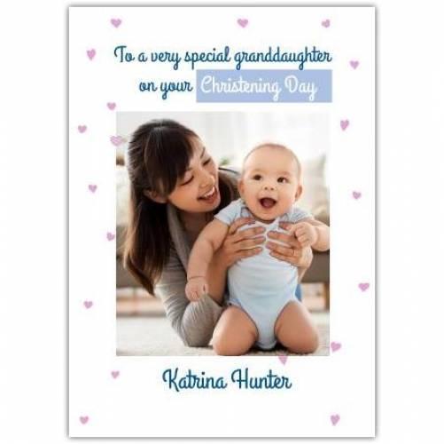 Christening Day Granddaughter  Card