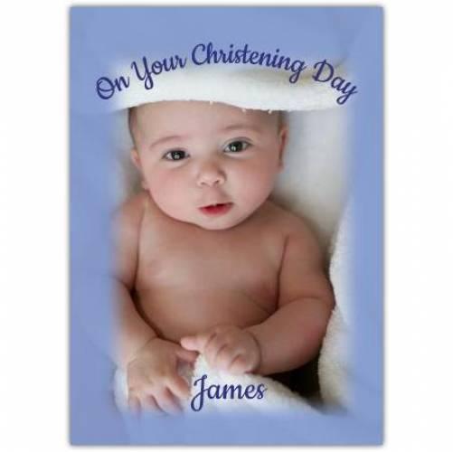Christening Day Baby Boy  Card