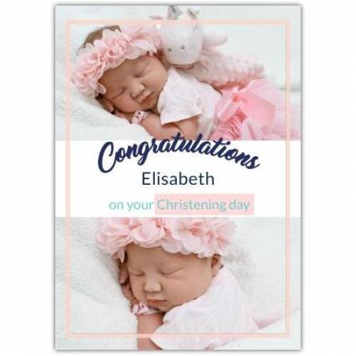 Congratulations Baby Girl Christening Day  Card