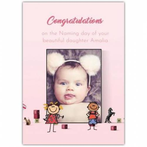 Congratulations New Baby Girl Pink Card
