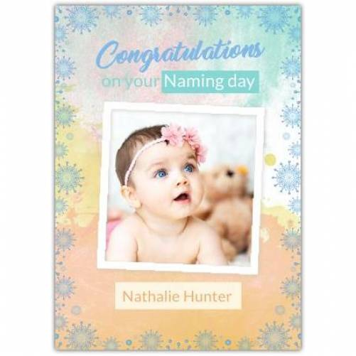 Congratulations New Baby Colourful  Card