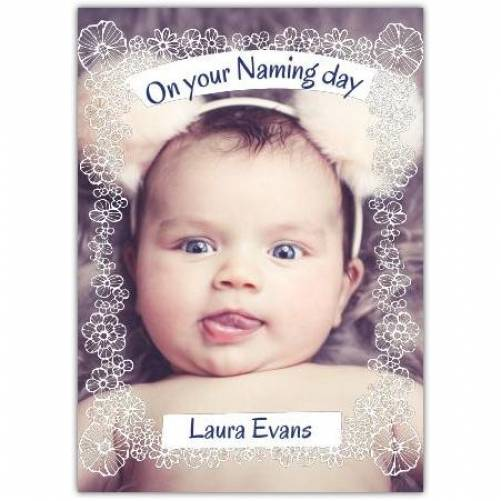 New Baby Ornament Frame  Card
