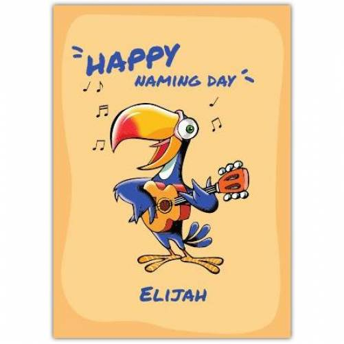 Happy Birthday Parrot Singing And Playing Guitar Card