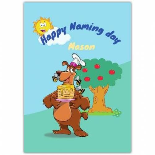 Happy Birthday Bear Pancakes  Card
