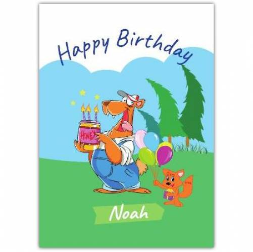 Happy Birthday Bear Honey Jar Birthday Candles  Card
