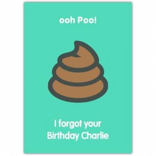 Happy Belated Birthday Poo Humor Card