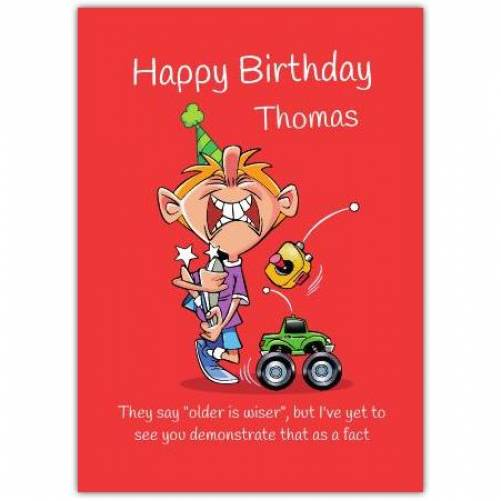 Happy Birthday Red Background Humor  Card
