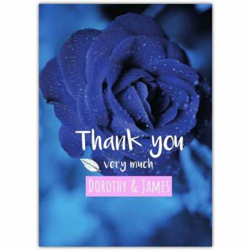 Engagement Blue Rose And Text  Card