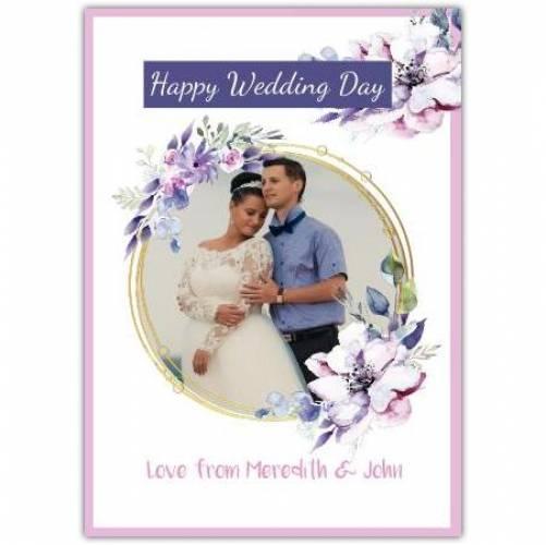 Happy Wedding Day Flowers  Card