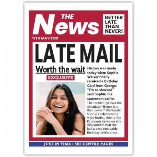 Daily Newspaper Humorous Headlines Card