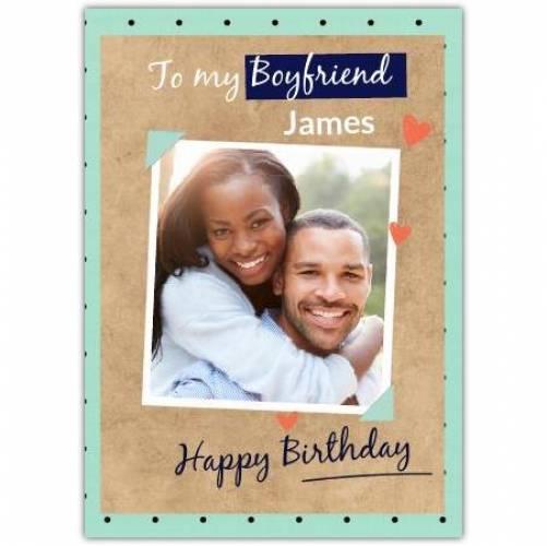 Happy Birthday Green Dots Ocher Card
