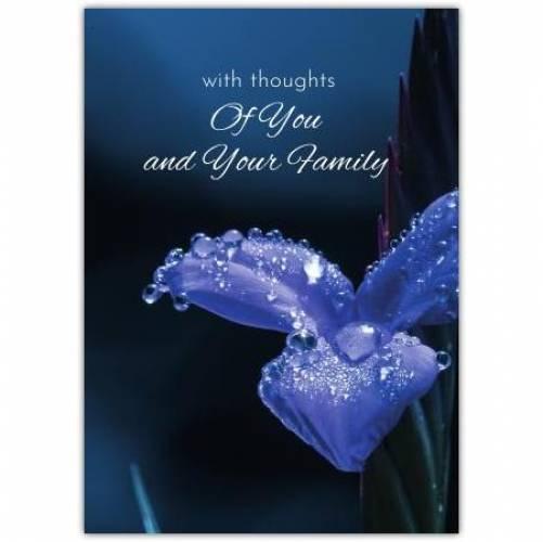 Sympathy Blue Flower Card