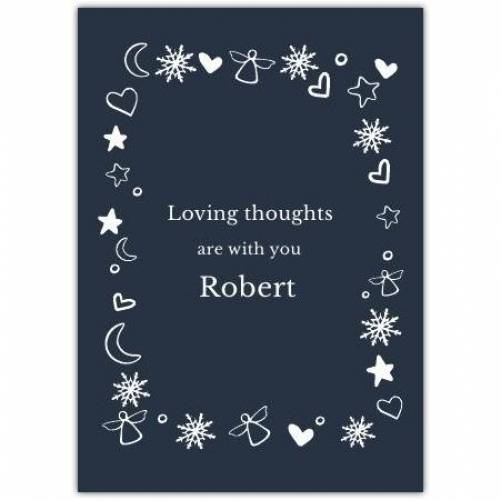 Sympathy With White Ornaments  Card