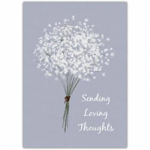 Sympathy White Flowers Card