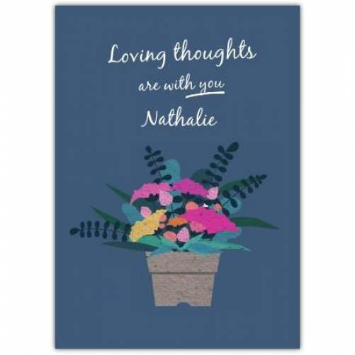 Sympathy Flowerpot With Flowers Card