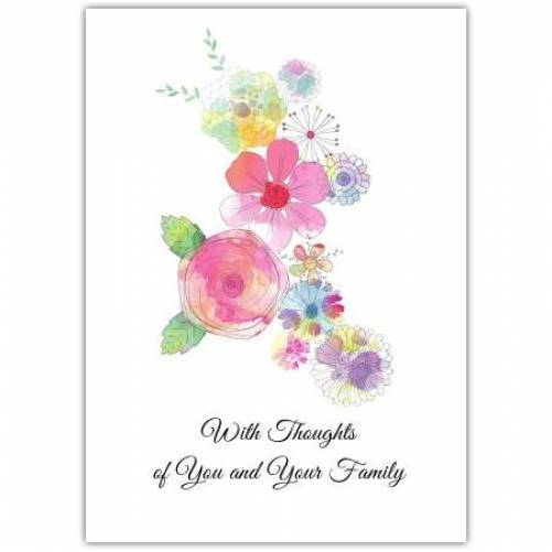 Sympathy Flowers White Background  Card