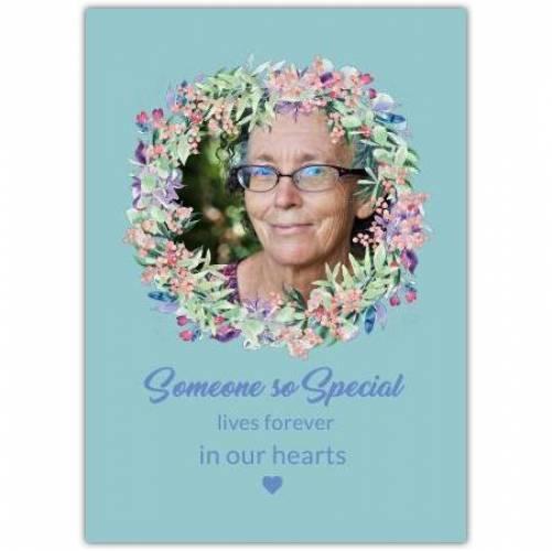 Sympathy Flower Wrieth Card