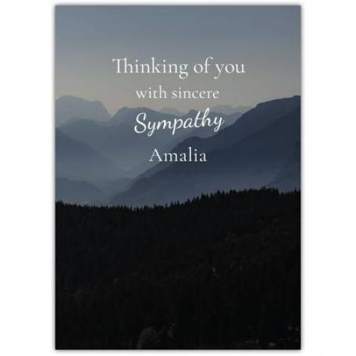 Sympathy With Mountains  Card