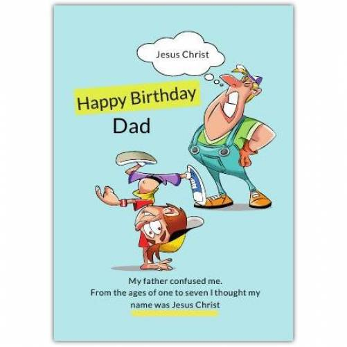Happy Birthday Father Son Humour  Card