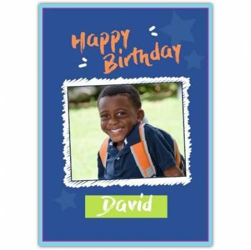 Happy Birthday White Frame  Card