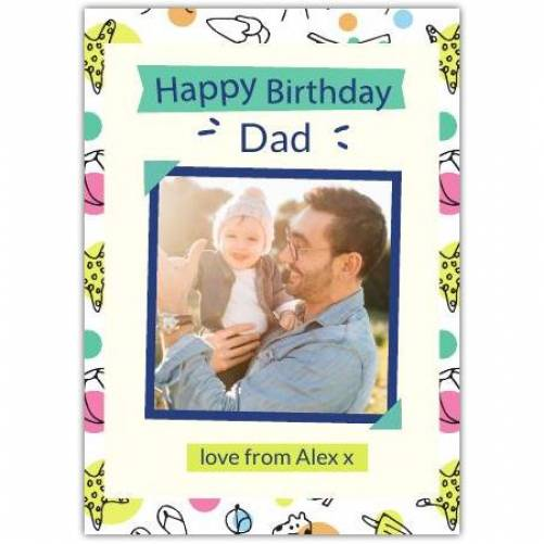 Happy Birthday Colourful Frame And Text Card