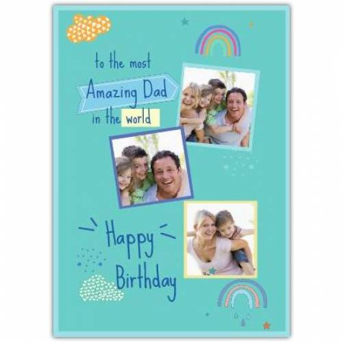 Happy Birthday Rainbows And Clouds Card