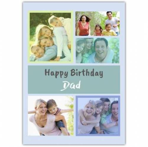 Happy Birthday Colourful Frames  Card