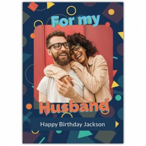 Happy Birthday Geometric Shapes Card