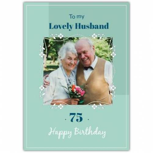 Happy Birthday Green Background And Flower Frame Card