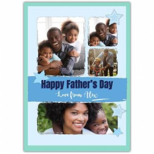 Happy Father's Day Blue Stars  Card