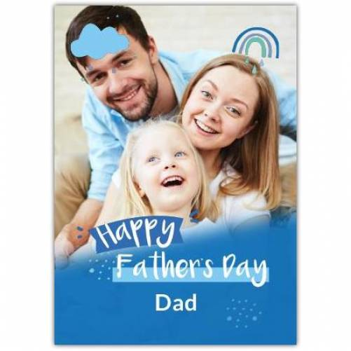 Happy Father's Day Clouds And Rain Card