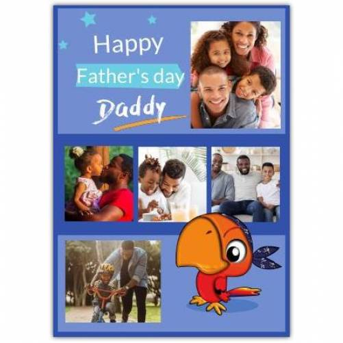 Happy Father's Day Parrot Card