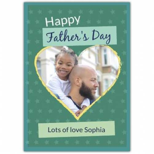 Happy Father's Day Heart And Stars Card