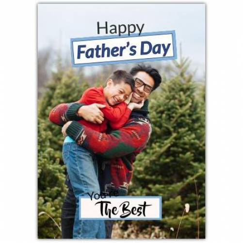 Happy Father's Day 1 Big Photo  Card