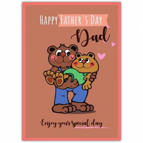 Happy Father's Day Father Son Bears  Card