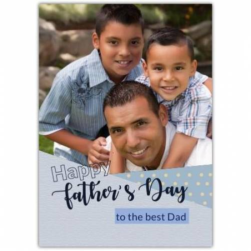 Happy Father's Day Blue And Grey With Dots  Card