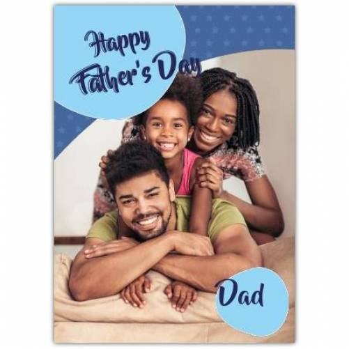 Happy Father's Day Blue Dots  Card