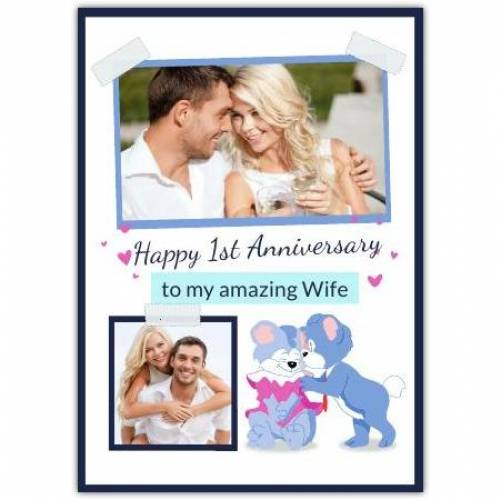 Happy Anniversary Cats In Love Card